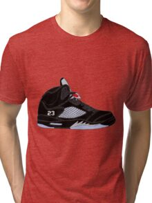 "Air Jordan V (5) ""Black Metallic"" Tri-blend T-Shirt"