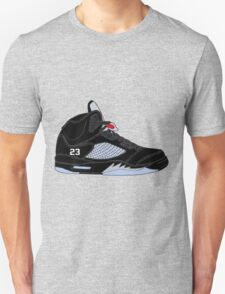 "Air Jordan V (5) ""Black Metallic"" Unisex T-Shirt"