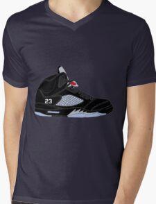 "Air Jordan V (5) ""Black Metallic"" Mens V-Neck T-Shirt"