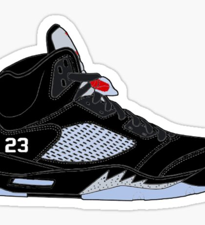 "Air Jordan V (5) ""Black Metallic"" Sticker"