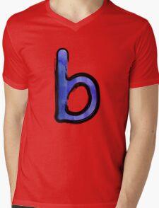 Watercolor - B - blue Mens V-Neck T-Shirt