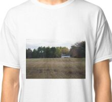 Farm House in Winter Field Classic T-Shirt
