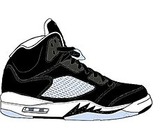 "Air Jordan V (5) ""Oreo"" Photographic Print"