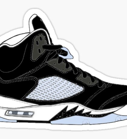 "Air Jordan V (5) ""Oreo"" Sticker"