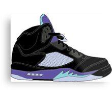 """Air Jordan V (5) """"Black Grape"""" Metal Print"""