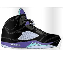"Air Jordan V (5) ""Black Grape"" Poster"