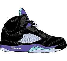 "Air Jordan V (5) ""Black Grape"" Photographic Print"