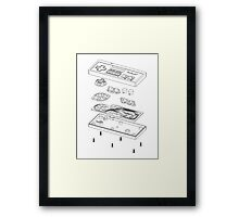 NES: Just the Guts (black) Framed Print