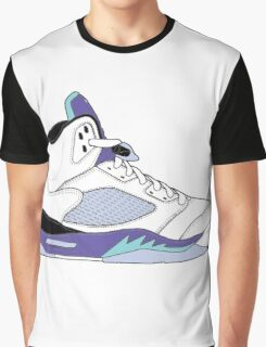 "Air Jordan V (5) ""White Grape"" Graphic T-Shirt"