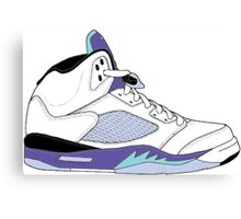 "Air Jordan V (5) ""White Grape"" Canvas Print"