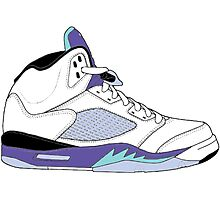 "Air Jordan V (5) ""White Grape"" Photographic Print"