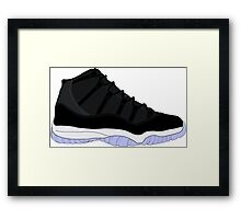 "Air Jordan XI (11) ""Space Jam"" Framed Print"