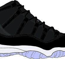 "Air Jordan XI (11) ""Space Jam"" by gaeldesmarais"