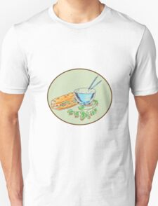 Bánh Mì Sandwich and Rice Bowl Drawing T-Shirt