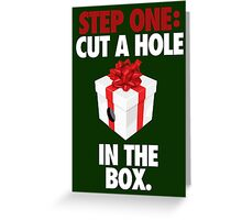 STEP ONE: CUT A HOLE IN THE BOX. - V2 Greeting Card