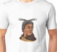 Maori Chief Warrior Bust Watercolor Unisex T-Shirt