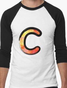 Watercolor - C - orange Men's Baseball ¾ T-Shirt