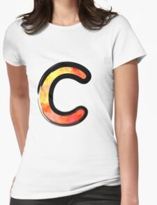 Watercolor - C - orange Womens Fitted T-Shirt