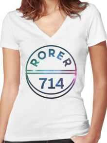 RORER 714 Women's Fitted V-Neck T-Shirt