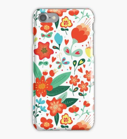 Cute flowers for Valentines Day iPhone Case/Skin