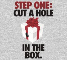 STEP ONE: CUT A HOLE IN THE BOX. - V3 by cpinteractive