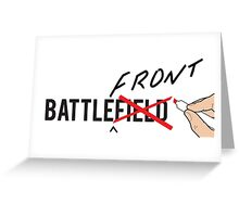 BATTLE(front)Field Greeting Card