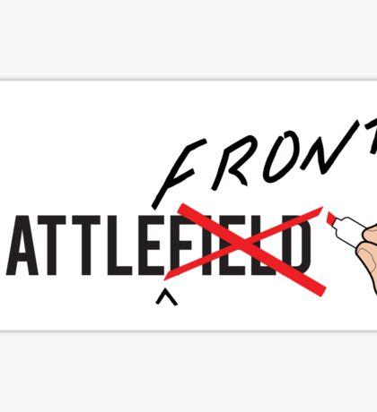 BATTLE(front)Field Sticker