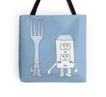 The Cutest Couple: Fork & Electrical Outlet Tote Bag