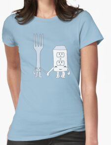 The Cutest Couple: Fork & Electrical Outlet Womens Fitted T-Shirt