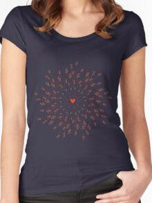 arrows and heart Women's Fitted Scoop T-Shirt