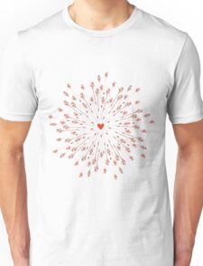 arrows and heart Unisex T-Shirt