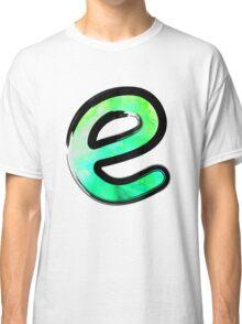 Watercolor - E - green Classic T-Shirt
