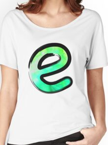 Watercolor - E - green Women's Relaxed Fit T-Shirt
