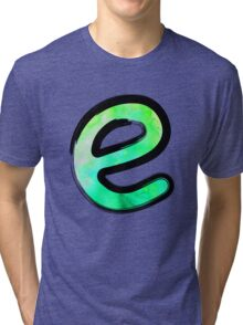 Watercolor - E - green Tri-blend T-Shirt