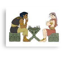 Evil chess Metal Print