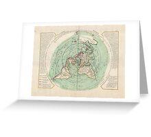 AE MAP Flat Earth Greeting Card