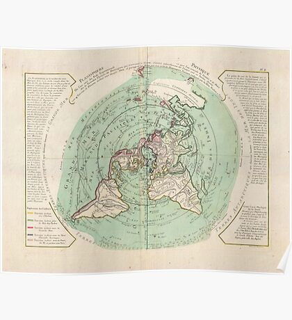 AE MAP Flat Earth Poster