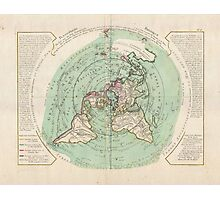 AE MAP Flat Earth Photographic Print