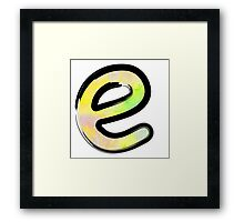 Watercolor - E - yellow Framed Print