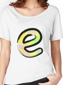 Watercolor - E - yellow Women's Relaxed Fit T-Shirt