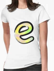 Watercolor - E - yellow Womens Fitted T-Shirt