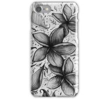 floating frangipani love iPhone Case/Skin