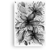 floating frangipani love Canvas Print