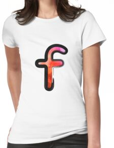 Watercolor - F - orange Womens Fitted T-Shirt