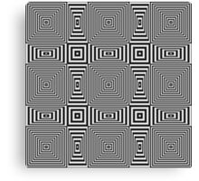 Flickering geometric optical illusion pattern Canvas Print