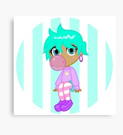 Pastel Bubblegum Gal Canvas Print