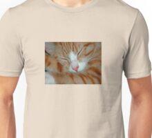 Ginger Kitten Sleeping Unisex T-Shirt