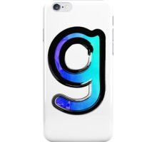Watercolor - G - blue iPhone Case/Skin