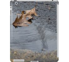 Leaves in Puddle iPad Case/Skin
