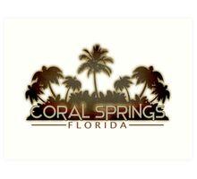 Coral Springs Florida palm tree design Art Print